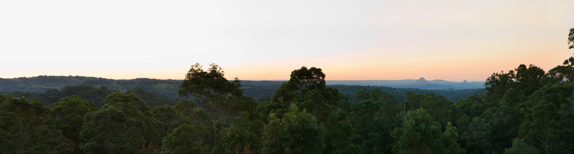 Panoramic Glasshouse views at sunset